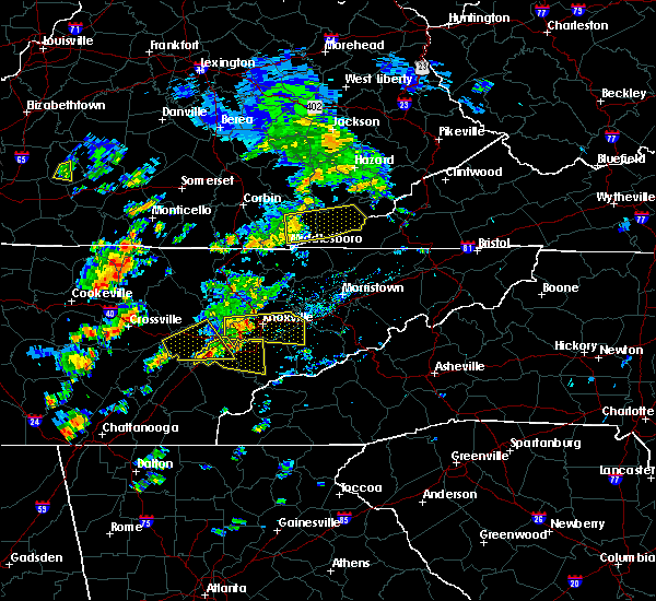 Radar Image for Severe Thunderstorms near Loyall, KY at 6/25/2018 1:12 PM EDT