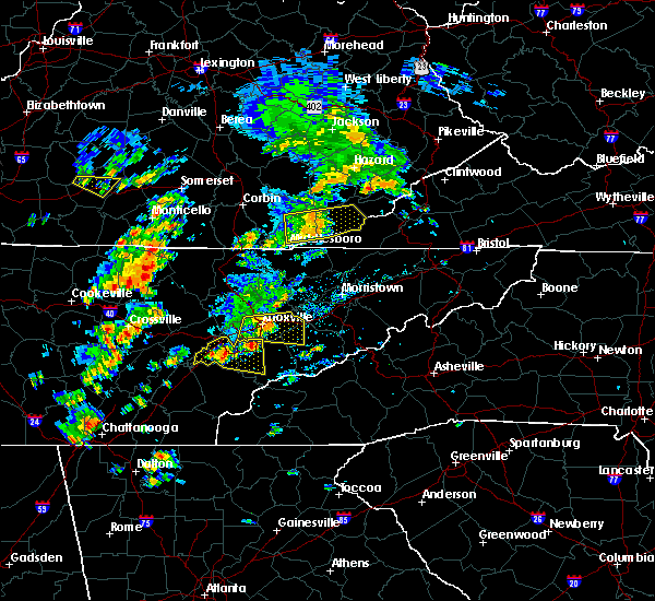 Radar Image for Severe Thunderstorms near Mascot, TN at 6/25/2018 1:27 PM EDT