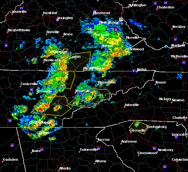Radar Image for Severe Thunderstorms near Middlesborough, KY at 6/25/2018 2:18 PM EDT