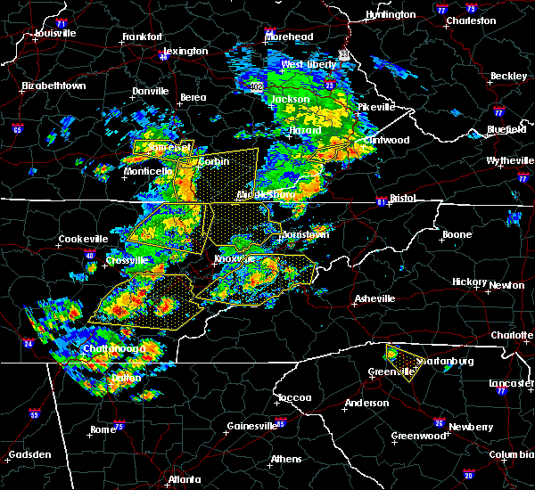 Radar Image for Severe Thunderstorms near Tazewell, TN at 6/25/2018 2:22 PM EDT
