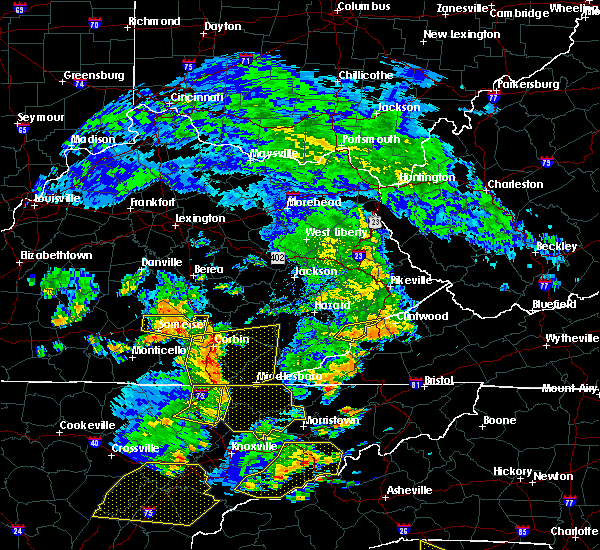 Radar Image for Severe Thunderstorms near Somerset, KY at 6/25/2018 2:27 PM EDT