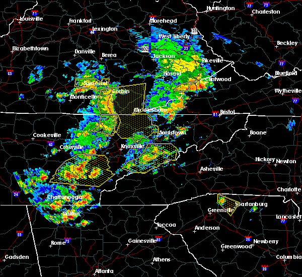 Radar Image for Severe Thunderstorms near Gatlinburg, TN at 6/25/2018 2:27 PM EDT