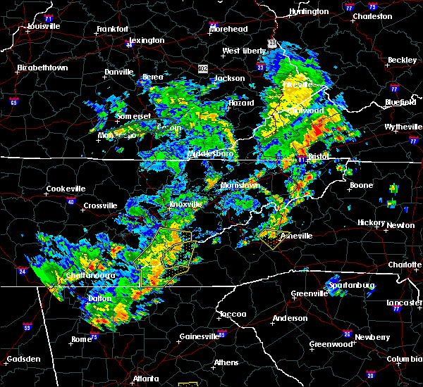 Radar Image for Severe Thunderstorms near Robbinsville, NC at 6/25/2018 3:32 PM EDT