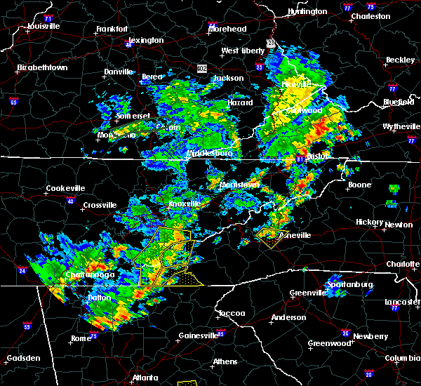 Radar Image for Severe Thunderstorms near Murphy, NC at 6/25/2018 3:34 PM EDT
