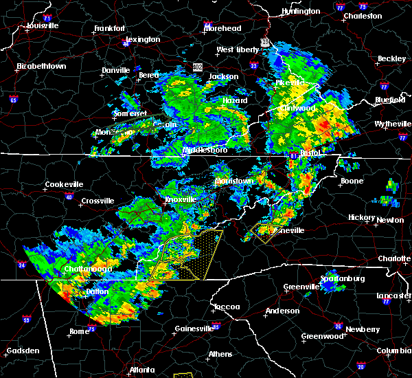 Radar Image for Severe Thunderstorms near Franklin, NC at 6/25/2018 3:50 PM EDT