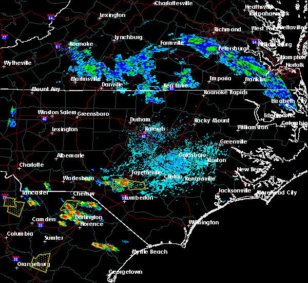 Radar Image for Severe Thunderstorms near Hope Mills, NC at 6/25/2018 3:59 PM EDT
