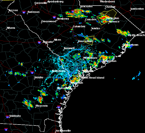 Radar Image for Severe Thunderstorms near Bluffton, SC at 6/25/2018 4:21 PM EDT