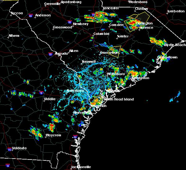 Radar Image for Severe Thunderstorms near Hardeeville, SC at 6/25/2018 4:21 PM EDT