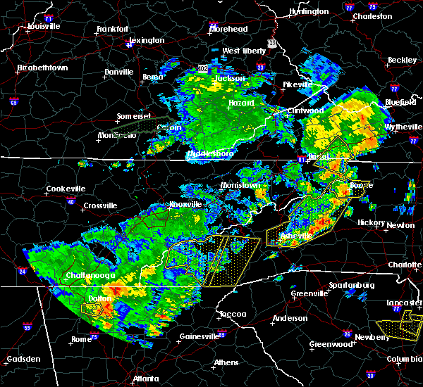 Radar Image for Severe Thunderstorms near Old Fort, NC at 6/25/2018 4:30 PM EDT