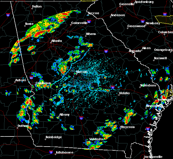 Radar Image for Severe Thunderstorms near Macon, GA at 6/25/2018 4:34 PM EDT