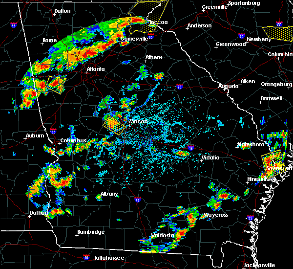 Radar Image for Severe Thunderstorms near Macon, GA at 6/25/2018 4:58 PM EDT