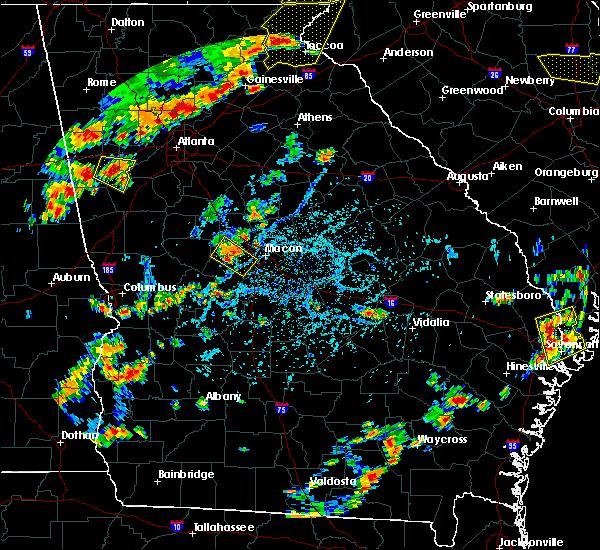 Radar Image for Severe Thunderstorms near Macon, GA at 6/25/2018 4:58 PM EDT