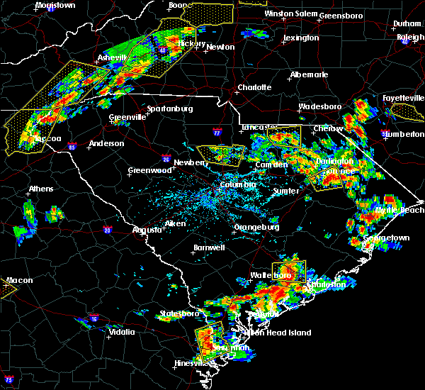 Radar Image for Severe Thunderstorms near Patrick, SC at 6/25/2018 5:11 PM EDT
