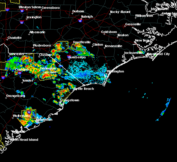 Radar Image for Severe Thunderstorms near Murrells Inlet, SC at 6/25/2018 5:13 PM EDT