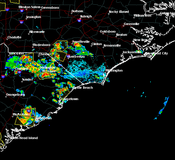 Radar Image for Severe Thunderstorms near Pembroke, NC at 6/25/2018 5:19 PM EDT