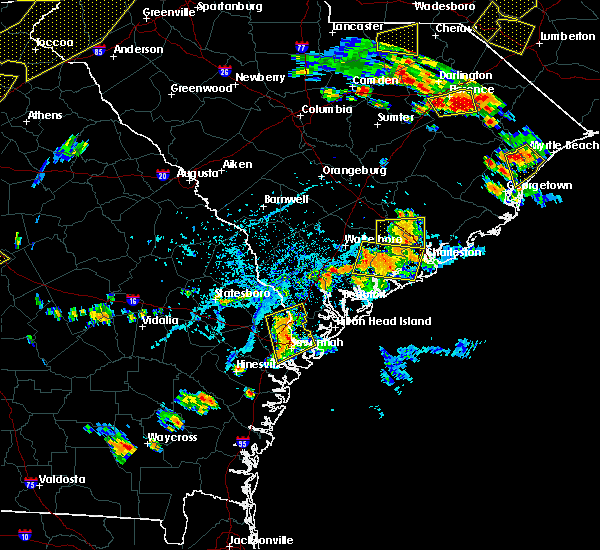 Radar Image for Severe Thunderstorms near Kiawah Island, SC at 6/25/2018 5:20 PM EDT