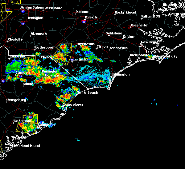 Radar Image for Severe Thunderstorms near Myrtle Beach, SC at 6/25/2018 5:26 PM EDT