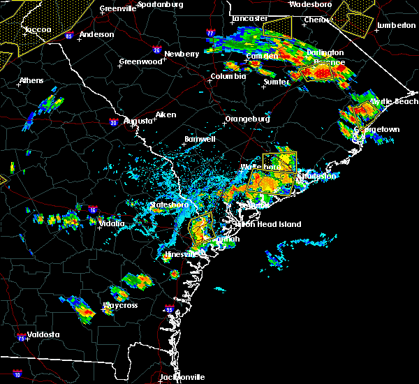 Radar Image for Severe Thunderstorms near Summerville, SC at 6/25/2018 5:26 PM EDT