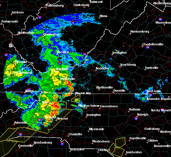 Radar Image for Severe Thunderstorms near Elkin, NC at 6/25/2018 5:32 PM EDT