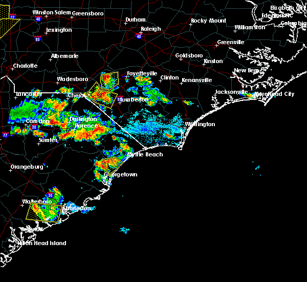 Radar Image for Severe Thunderstorms near Pembroke, NC at 6/25/2018 5:35 PM EDT
