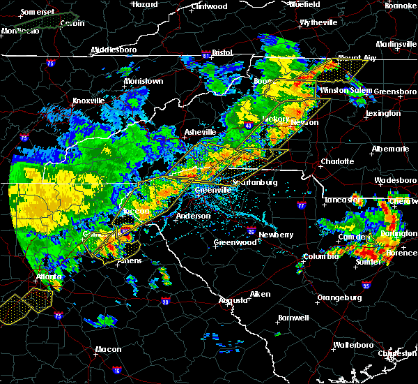 Radar Image for Severe Thunderstorms near Taylorsville, NC at 6/25/2018 5:53 PM EDT