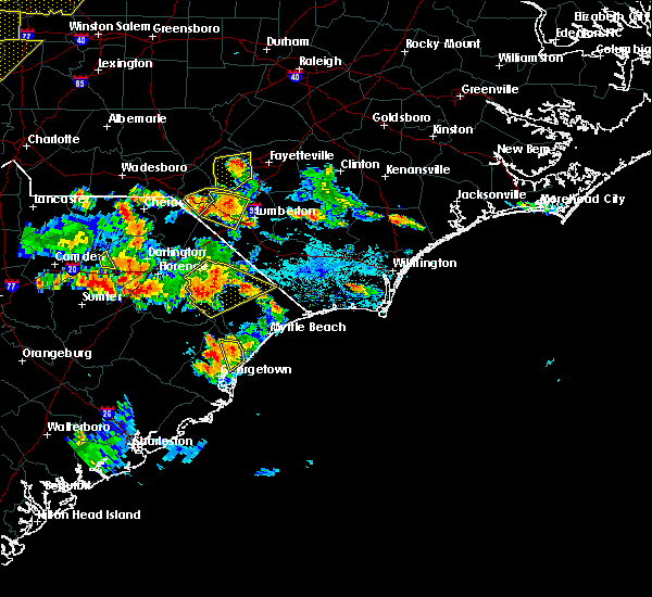 Radar Image for Severe Thunderstorms near Pembroke, NC at 6/25/2018 5:54 PM EDT