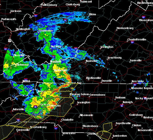 Radar Image for Severe Thunderstorms near Taylorsville, NC at 6/25/2018 6:00 PM EDT