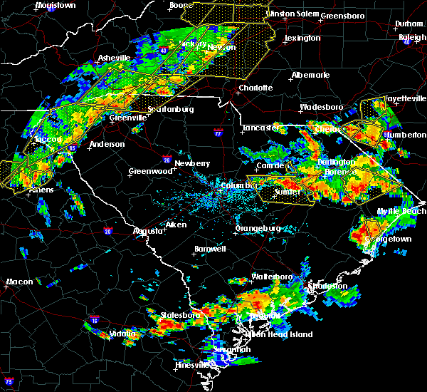 Radar Image for Severe Thunderstorms near Oswego, SC at 6/25/2018 6:00 PM EDT