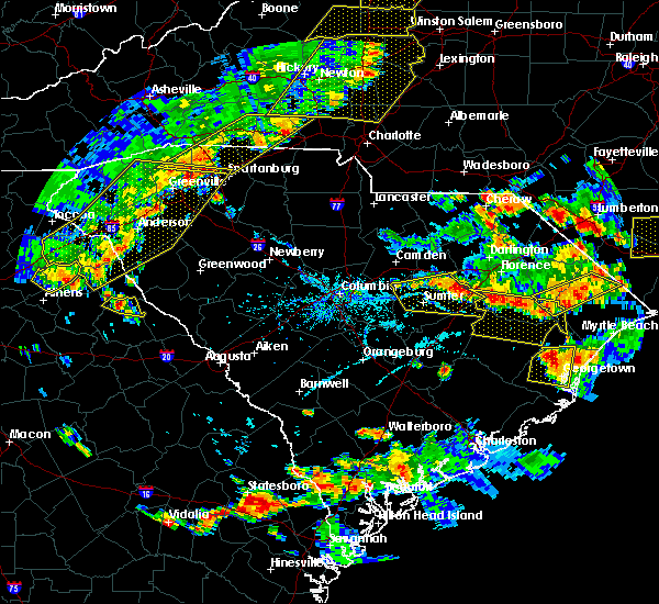 Radar Image for Severe Thunderstorms near Oswego, SC at 6/25/2018 6:18 PM EDT