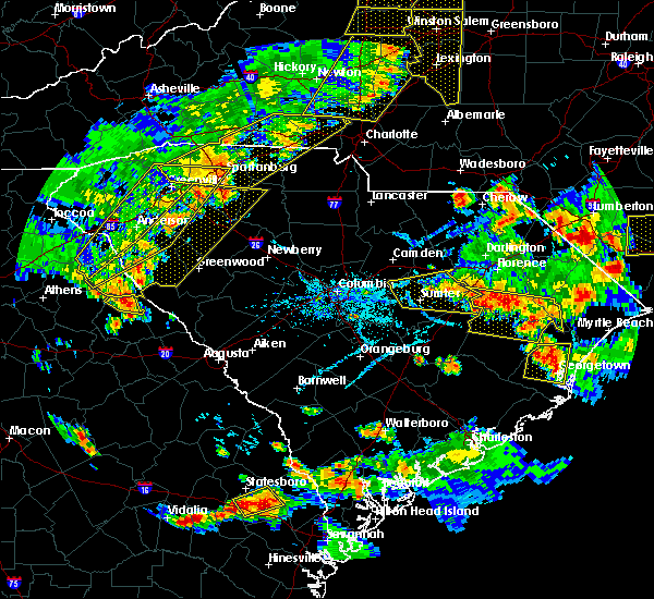 Radar Image for Severe Thunderstorms near Oswego, SC at 6/25/2018 6:37 PM EDT