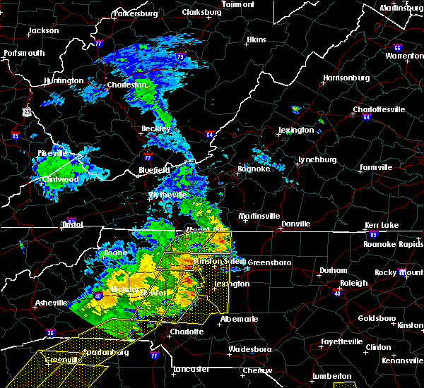 Radar Image for Severe Thunderstorms near Misenheimer, NC at 6/25/2018 6:46 PM EDT