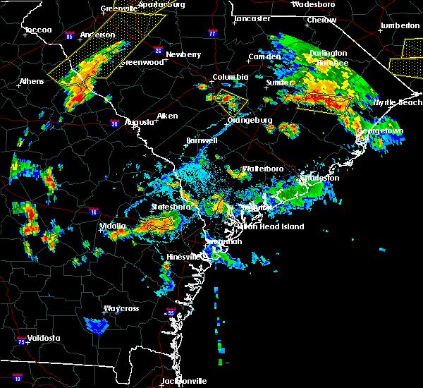Radar Image for Severe Thunderstorms near Brooklet, GA at 6/25/2018 6:52 PM EDT