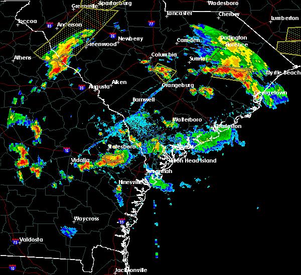 Radar Image for Severe Thunderstorms near Brooklet, GA at 6/25/2018 6:58 PM EDT
