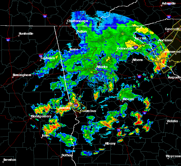 Radar Image for Severe Thunderstorms near Columbus, GA at 6/25/2018 7:02 PM EDT