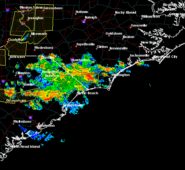 Radar Image for Severe Thunderstorms near Wrightsboro, NC at 6/25/2018 7:26 PM EDT