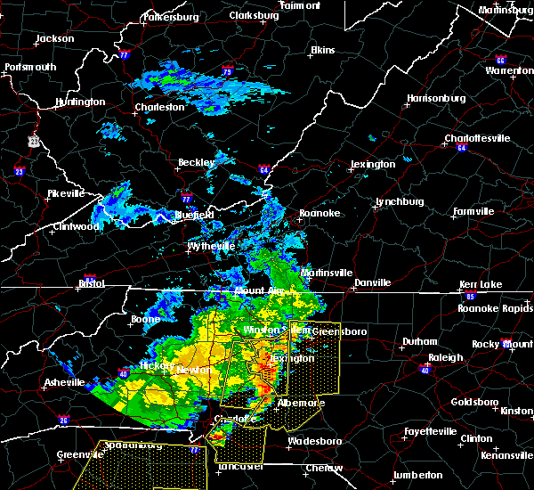 Radar Image for Severe Thunderstorms near High Point, NC at 6/25/2018 7:27 PM EDT
