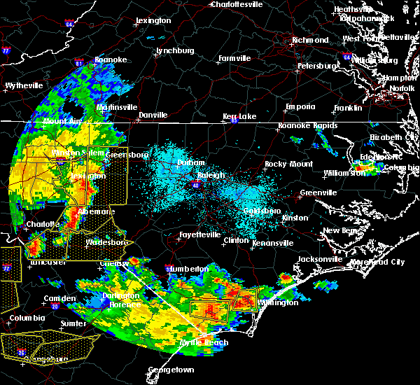 Radar Image for Severe Thunderstorms near Norwood, NC at 6/25/2018 7:44 PM EDT