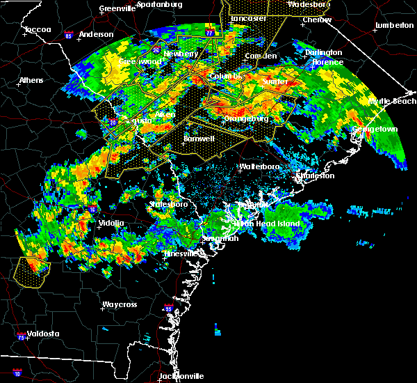 Radar Image for Severe Thunderstorms near Barnwell, SC at 6/25/2018 8:32 PM EDT