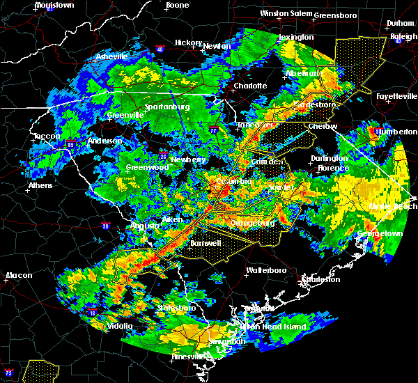 Radar Image for Severe Thunderstorms near Patrick, SC at 6/25/2018 8:50 PM EDT