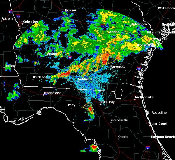 Radar Image for Severe Thunderstorms near Branford, FL at 6/25/2018 10:10 PM EDT