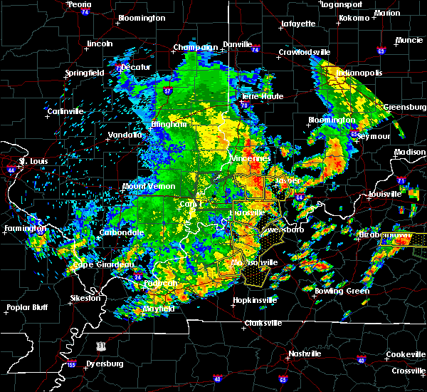 Radar Image for Severe Thunderstorms near Petersburg, IN at 6/26/2018 12:07 PM EDT