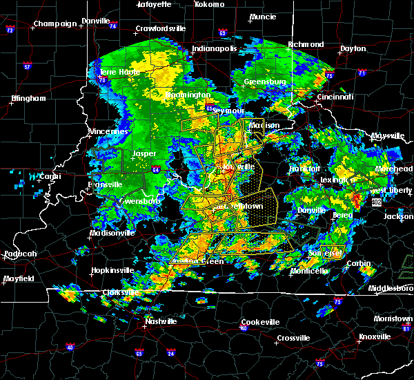 Radar Image for Severe Thunderstorms near Utica, KY at 6/26/2018 1:37 PM EDT