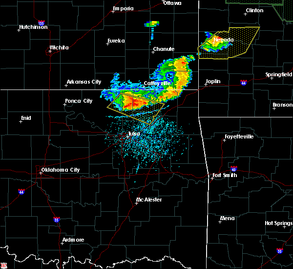 Radar Image for Severe Thunderstorms near Bushyhead, OK at 6/26/2018 3:20 PM CDT