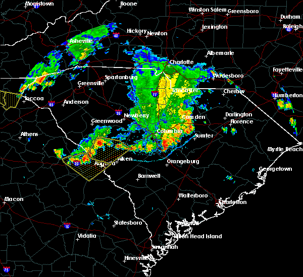 Radar Image for Severe Thunderstorms near Belvedere, SC at 6/26/2018 8:20 PM EDT