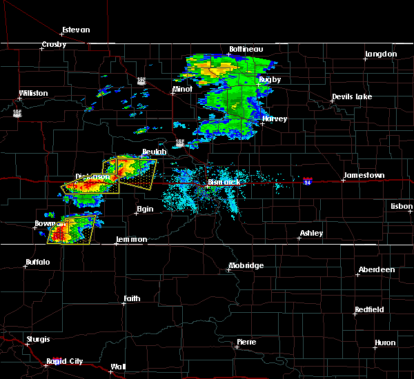 Radar Image for Severe Thunderstorms near Hebron, ND at 6/26/2018 7:22 PM MDT