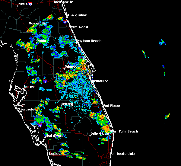 Radar Image for Severe Thunderstorms near Merritt Island, FL at 6/27/2018 4:28 PM EDT