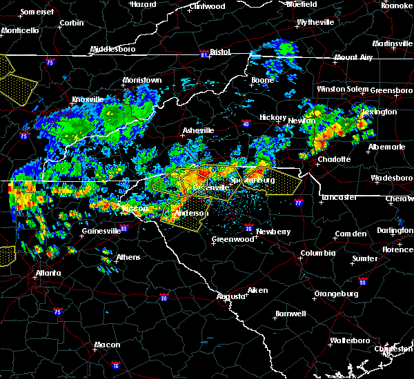 Radar Image for Severe Thunderstorms near Berea, SC at 6/27/2018 4:32 PM EDT