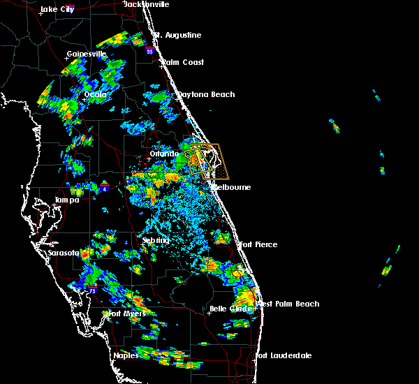 Radar Image for Severe Thunderstorms near Merritt Island, FL at 6/27/2018 4:47 PM EDT