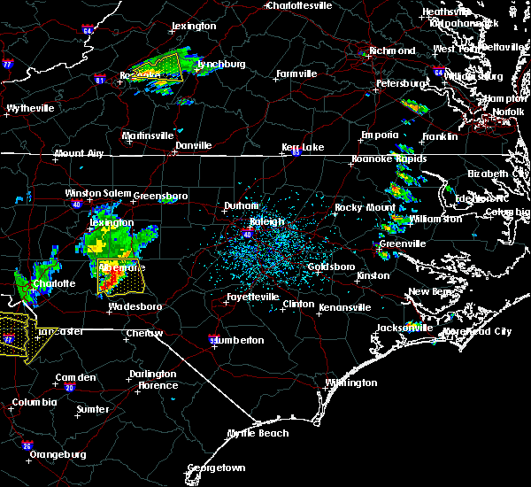 Radar Image for Severe Thunderstorms near Mount Gilead, NC at 6/27/2018 5:54 PM EDT