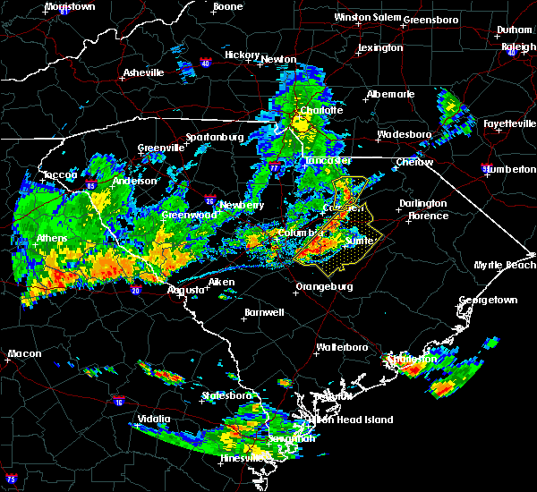 Radar Image for Severe Thunderstorms near McBee, SC at 6/27/2018 7:36 PM EDT